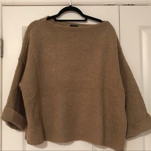 Wool blend oversize sweater
